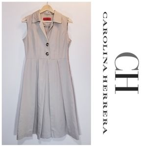 Carolina Herrera Sleeveless Fit and Flare Dress